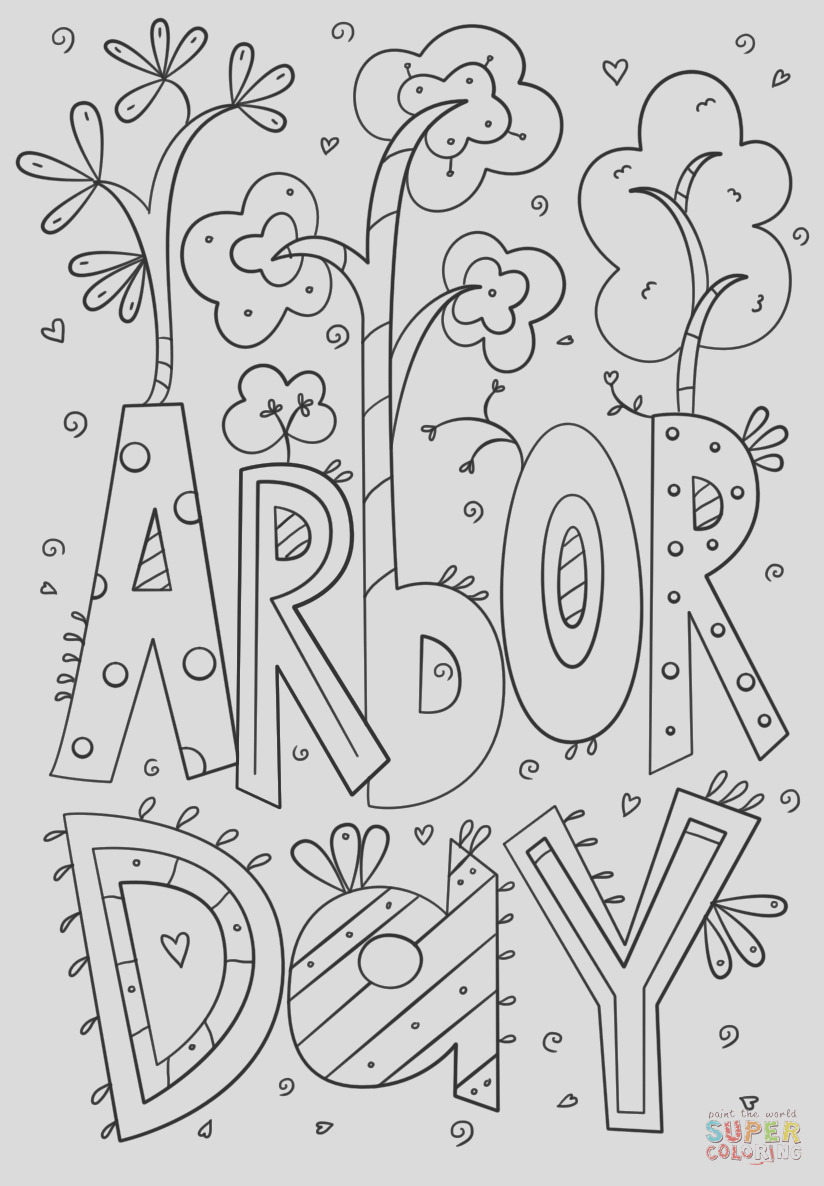 arbor day doodle
