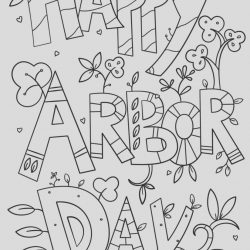 Arbor Day Coloring Page Elegant Happy Arbor Day Doodle Coloring Page