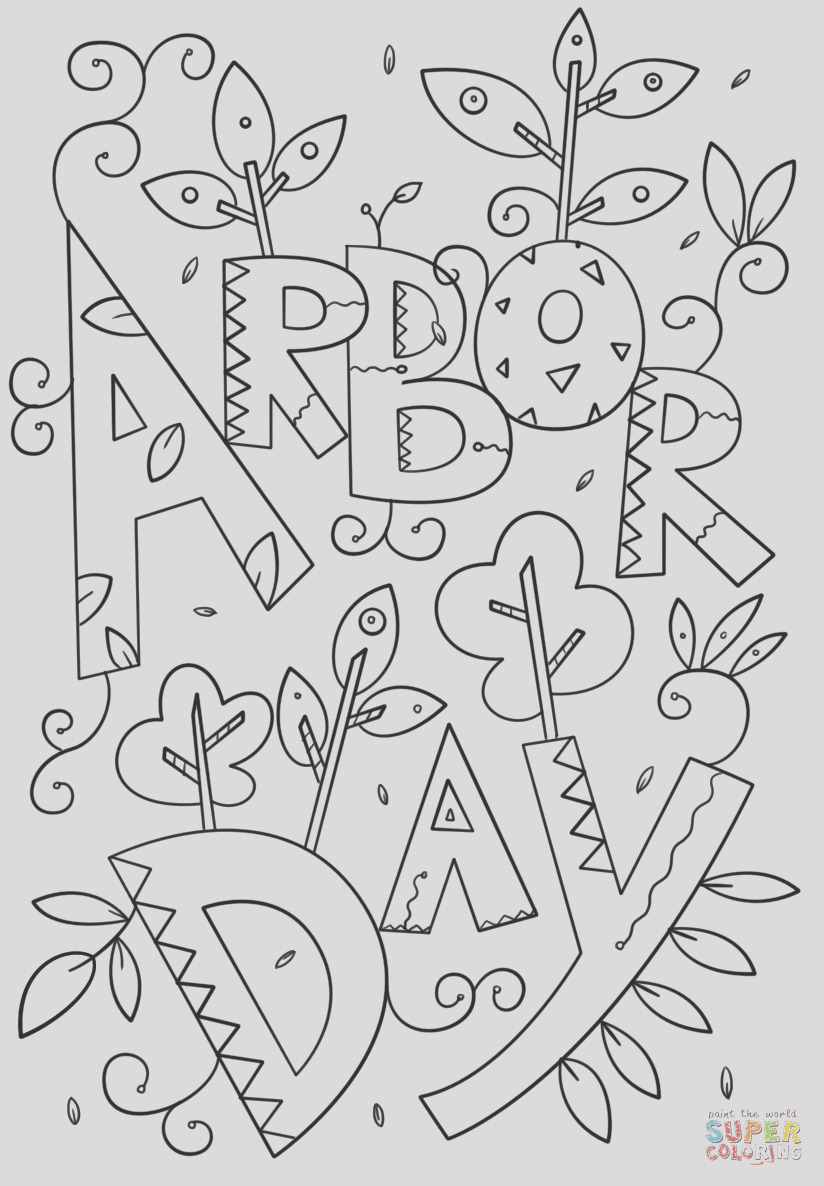 arbor day doodle 1