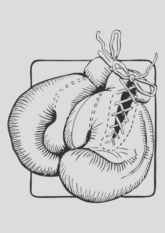 coloring page boxing gloves i