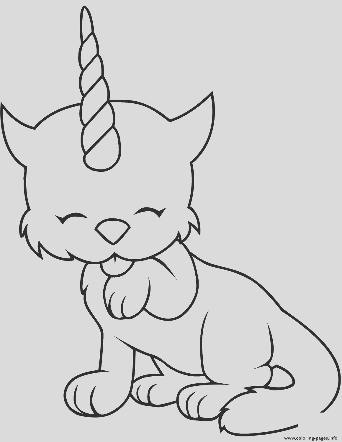 caticorn cat unicorn cute printable coloring pages book