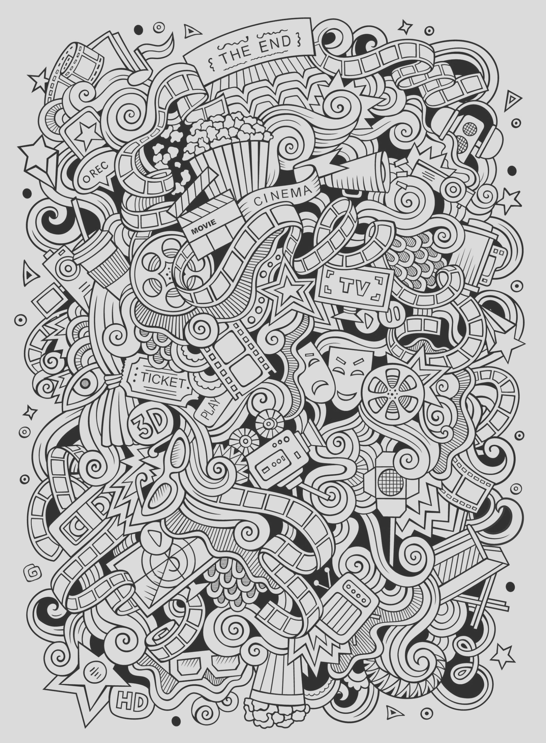 image=doodle art coloring pages for children doodle art 1