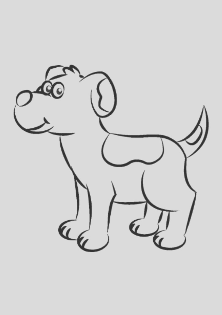 free dog colouring pages 01