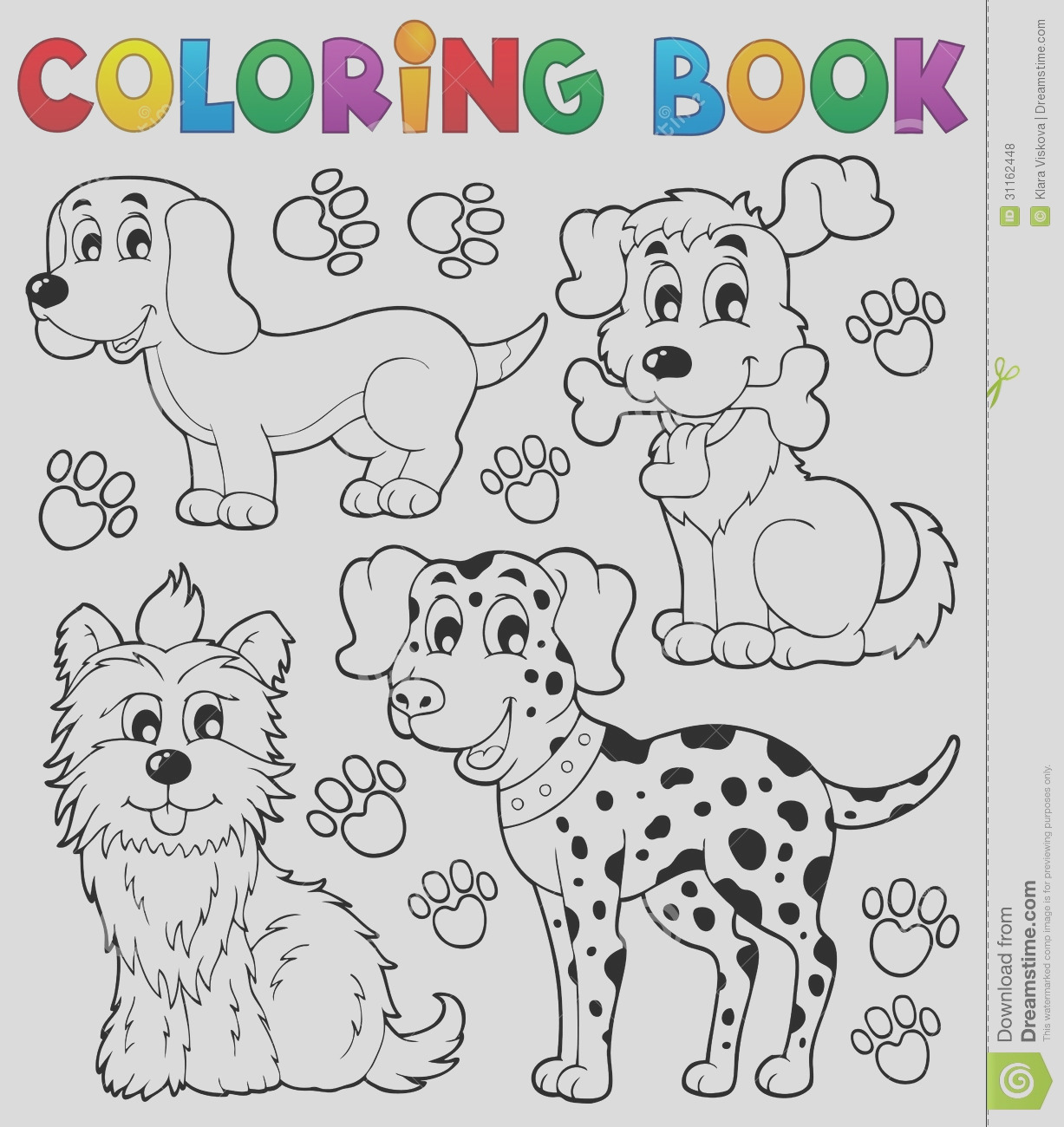 royalty free stock photos coloring book dog theme eps vector illustration image
