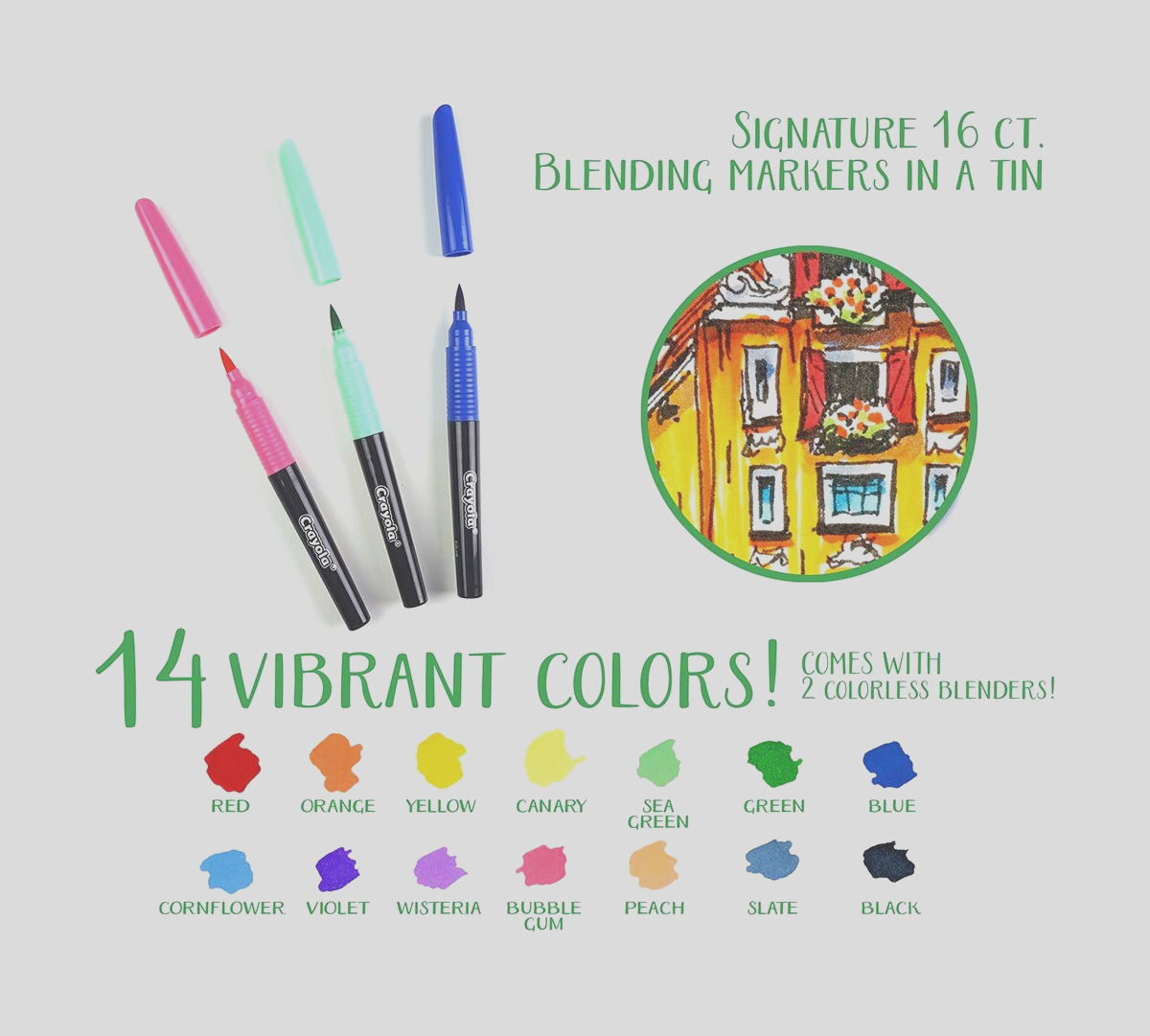 signature 16 ct blending markers in a tin