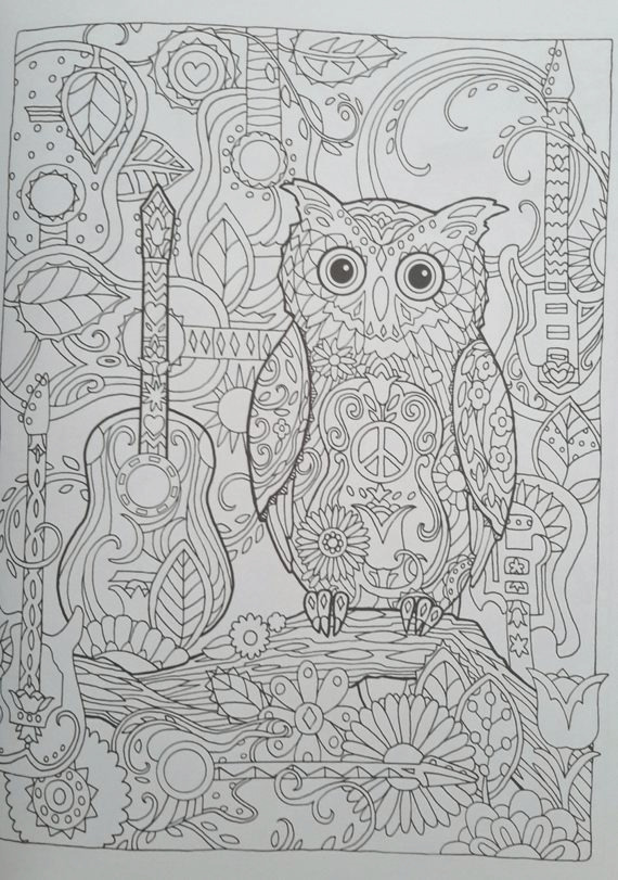 on sale owl creative haven coloring book