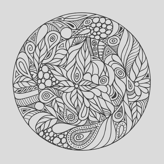 adult coloring page trippy circle
