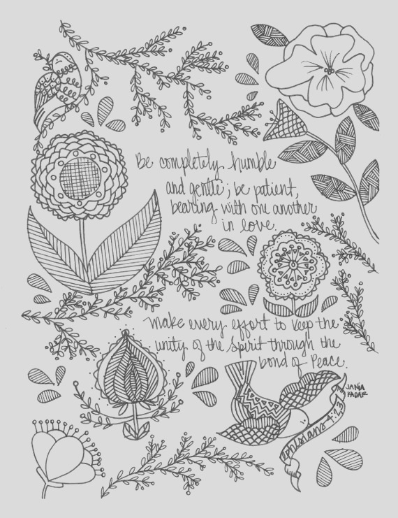 be humble coloring page pdf