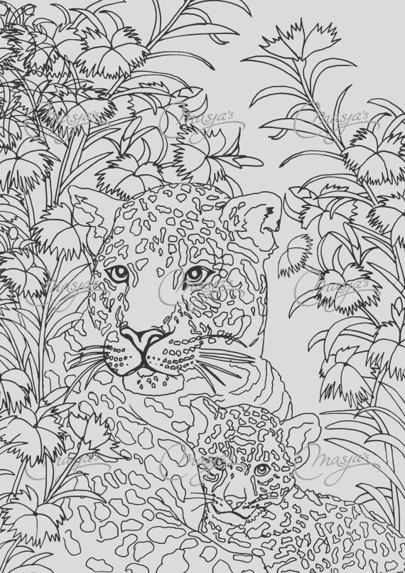 masjas leopards coloring page