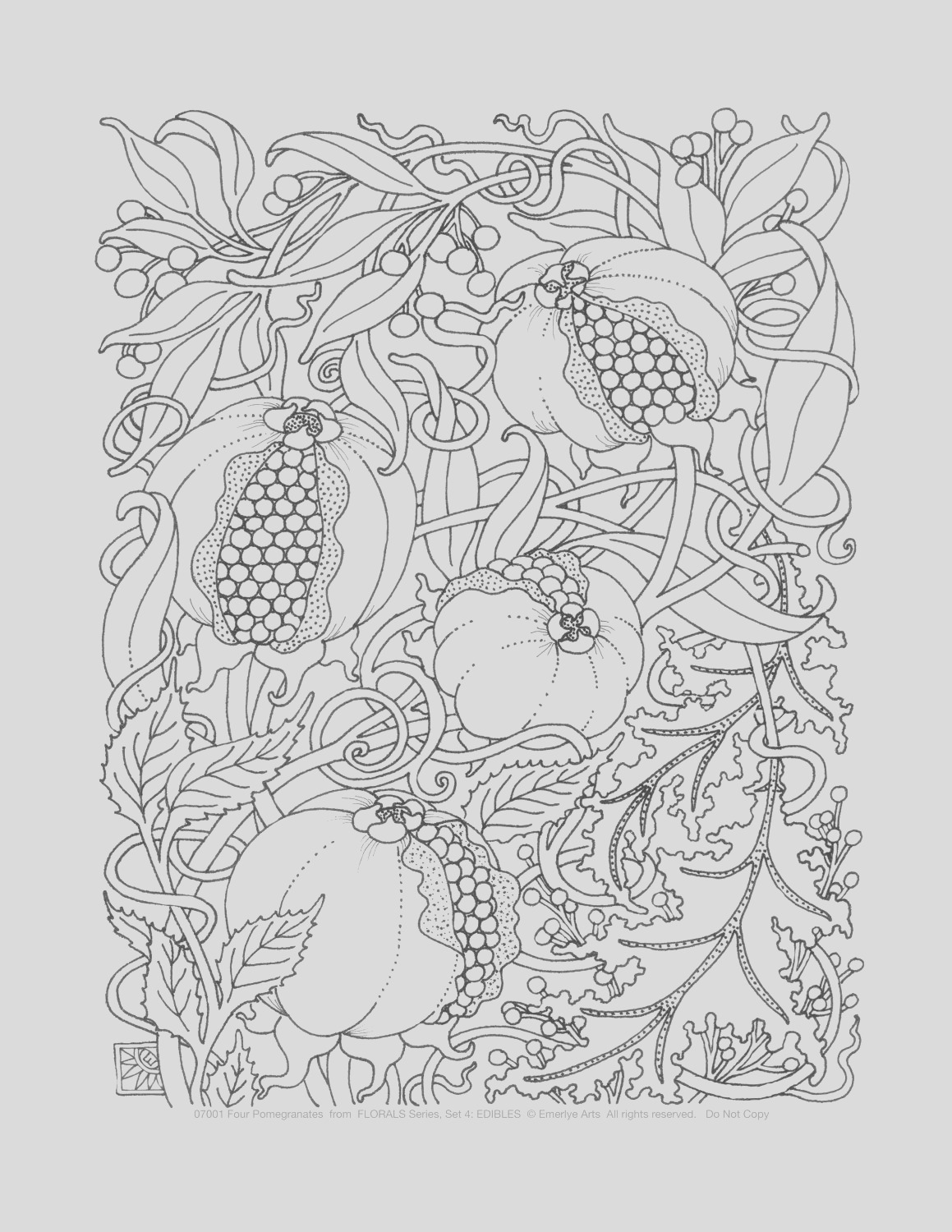 adult coloring pages edibles set of 8
