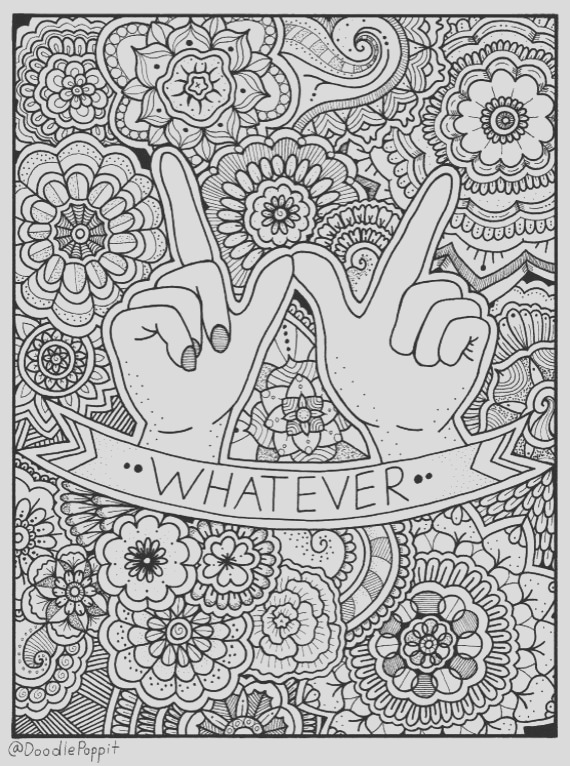whatever coloring page coloring book