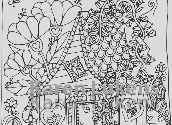 Etsy Coloring Book Lovely Fairy House 3 1 Adult Coloring Book Page Printable Instant