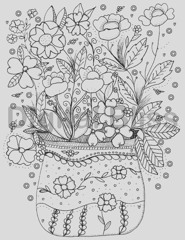 adult coloring page instant