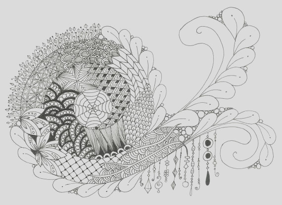 printable zendoodle coloring page