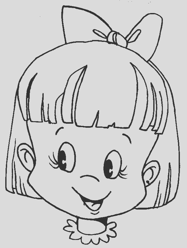 faces of human coloring pages