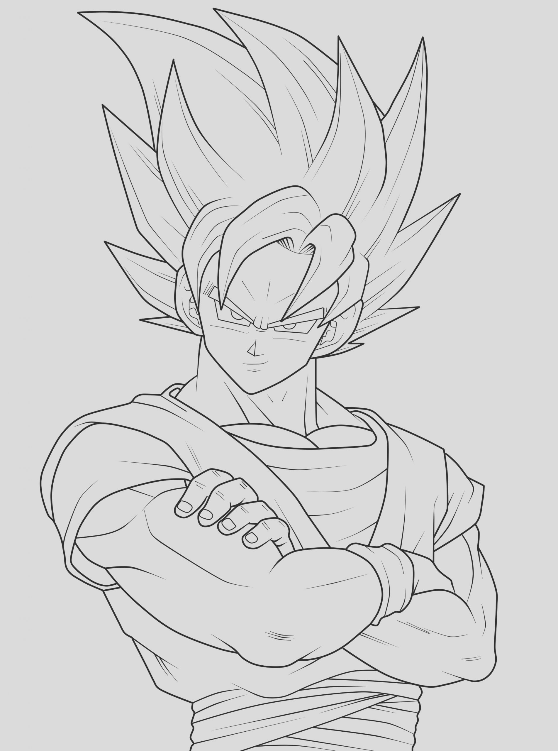goku coloring pages 10