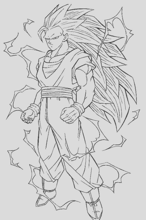 goku sketch for colouring