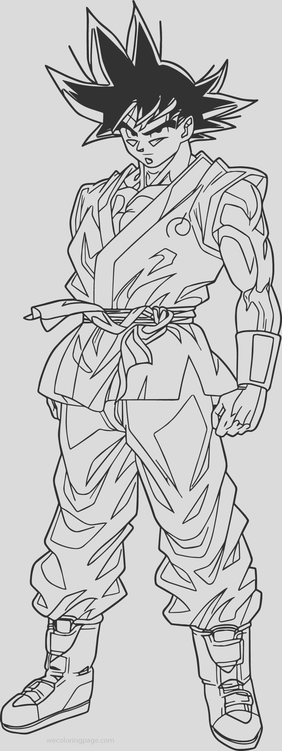 goku waiting coloring page