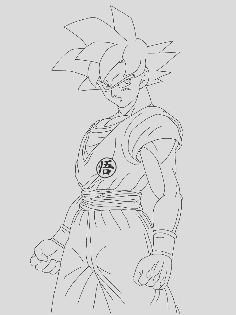 goku super saiyan 5 coloring pages