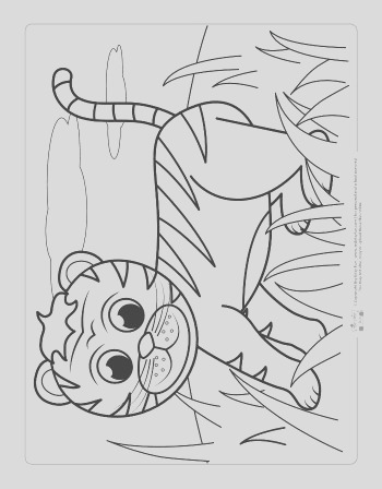 safari and jungle animals coloring pages for kids