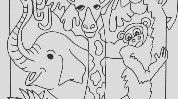 Jungle Animal Coloring Page Lovely Jungle Coloring Pages Best Coloring Pages for Kids
