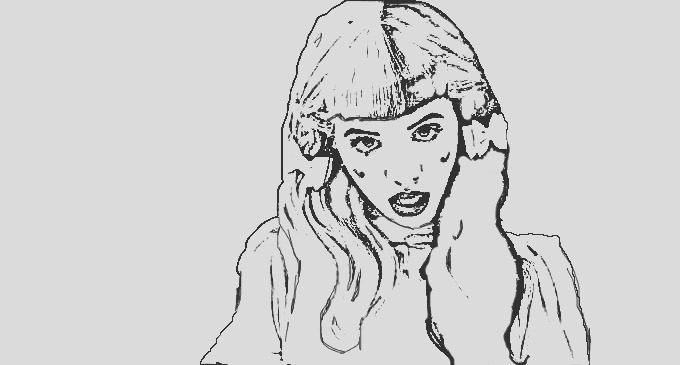 melanie martinez coloring pages sketch templates