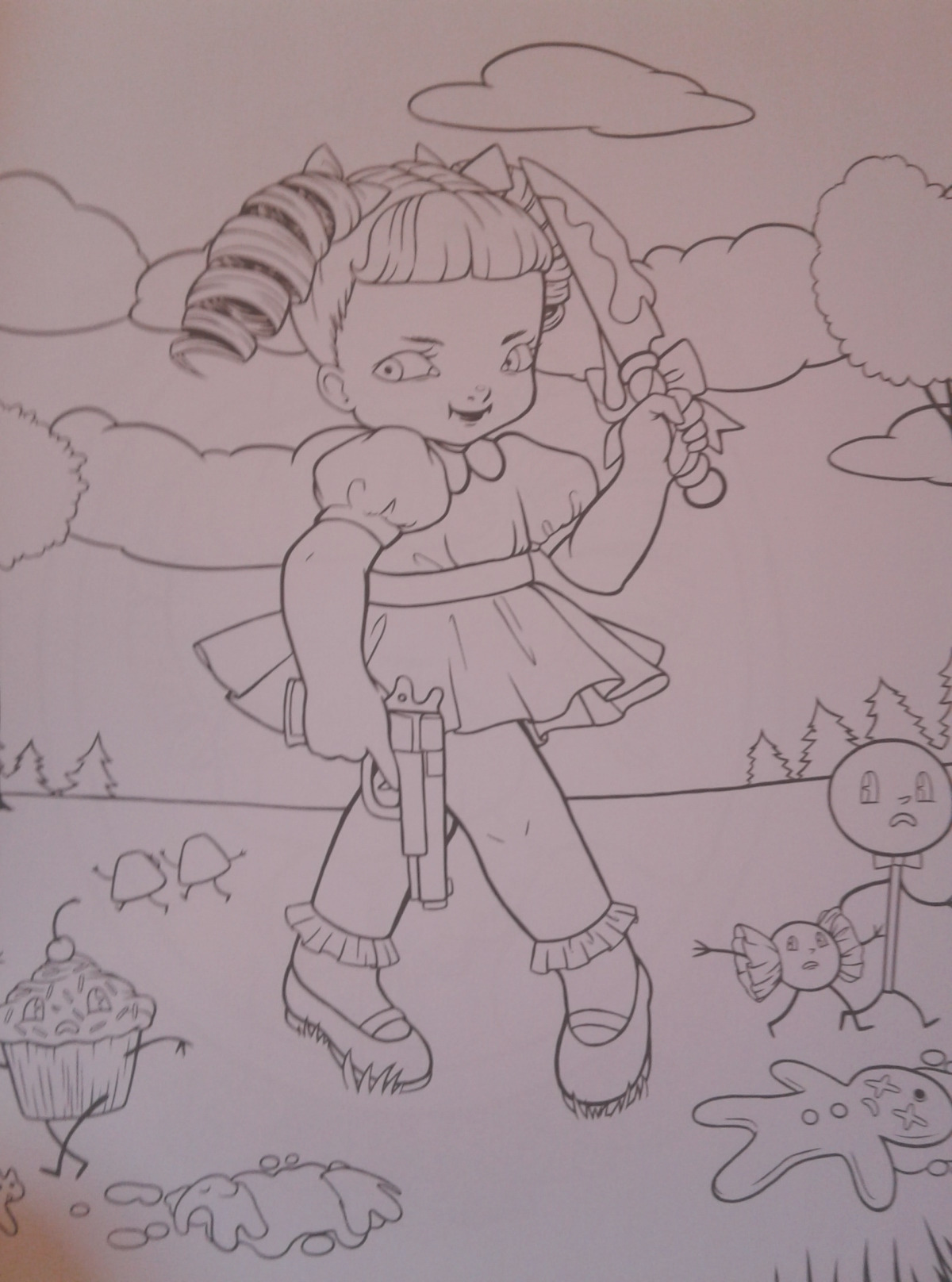 melanie martinez coloring book pages story