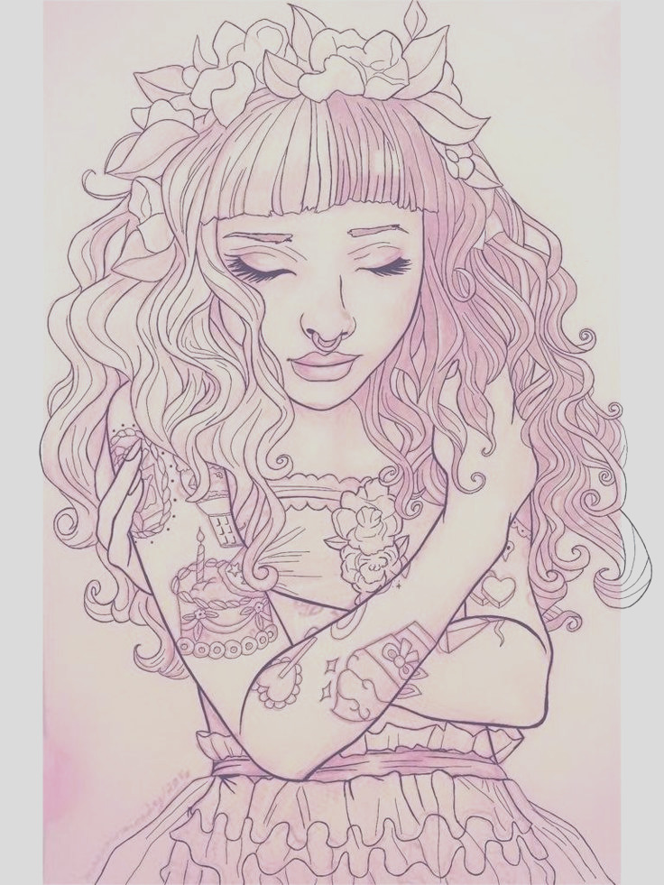anime melanie martinez coloring pages