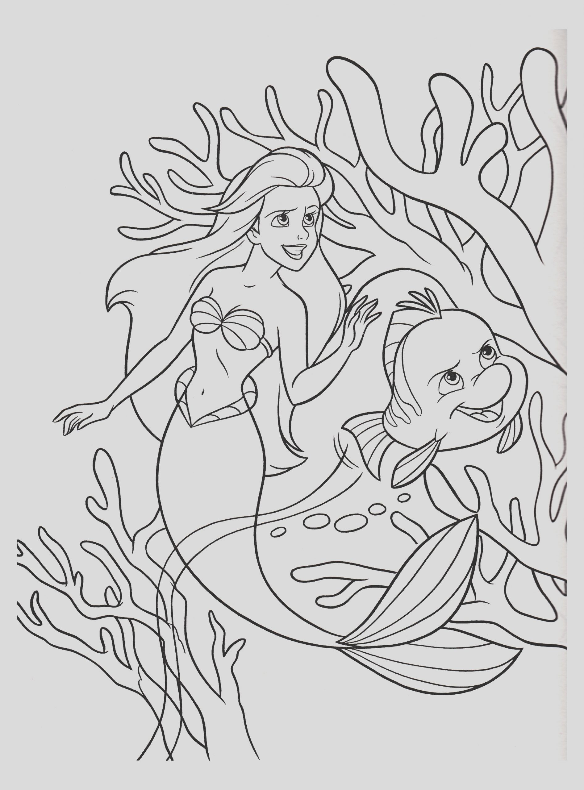 image=the little mermaid Coloring for kids the little mermaid 1