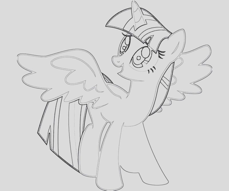 10 twilight sparkle coloring page