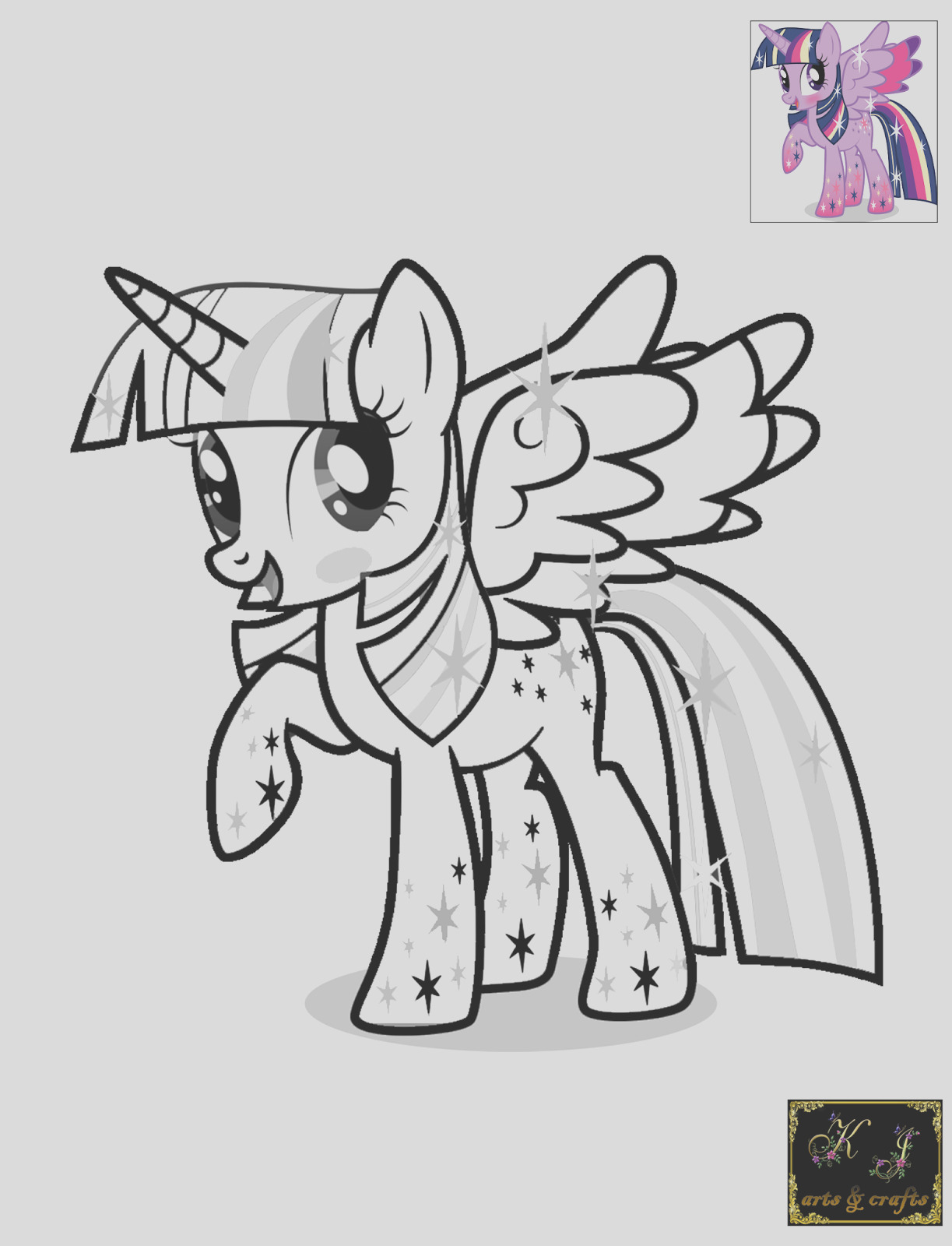 twilight sparkle coloring pages
