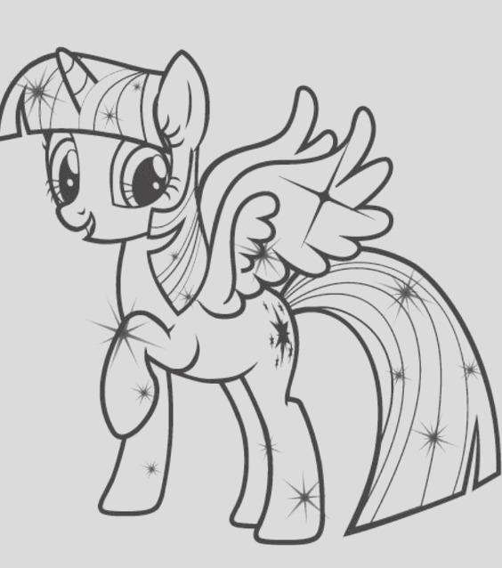 my little pony twilight sparkle drawing