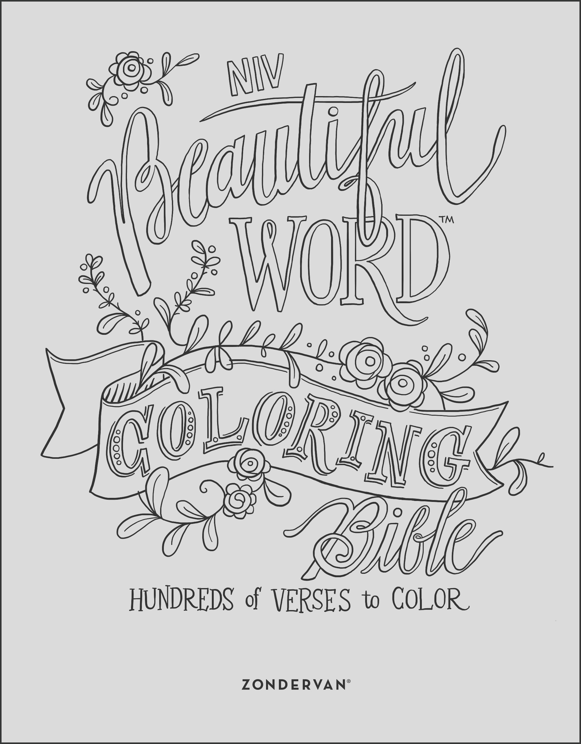 niv beautiful word coloring bible hardcover hundreds of verses to color