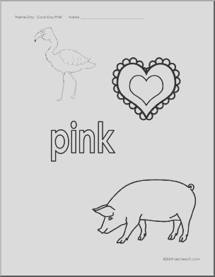 coloring pages pink