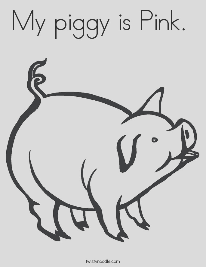 my piggy is pink coloring page