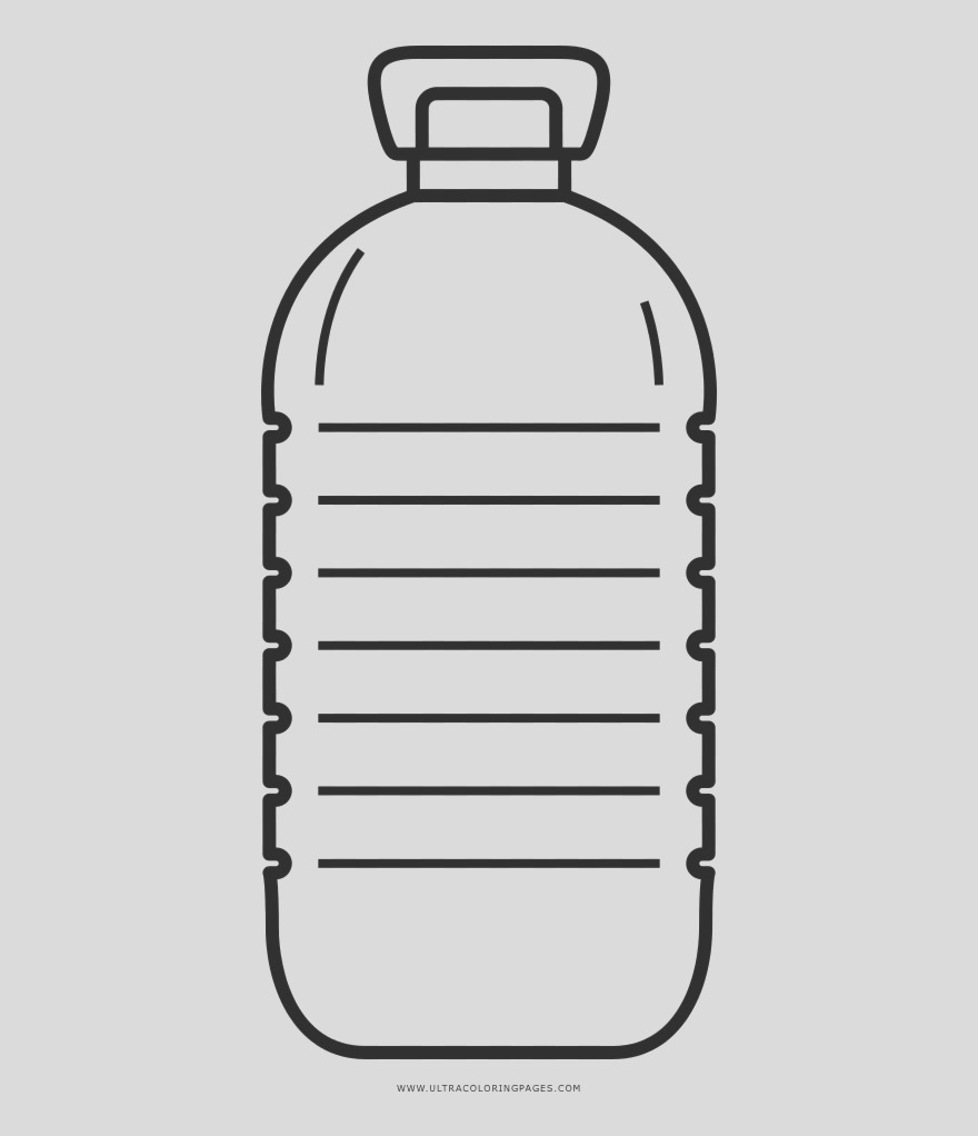 imTobx plastic bottles clipart colouring page bottle of water