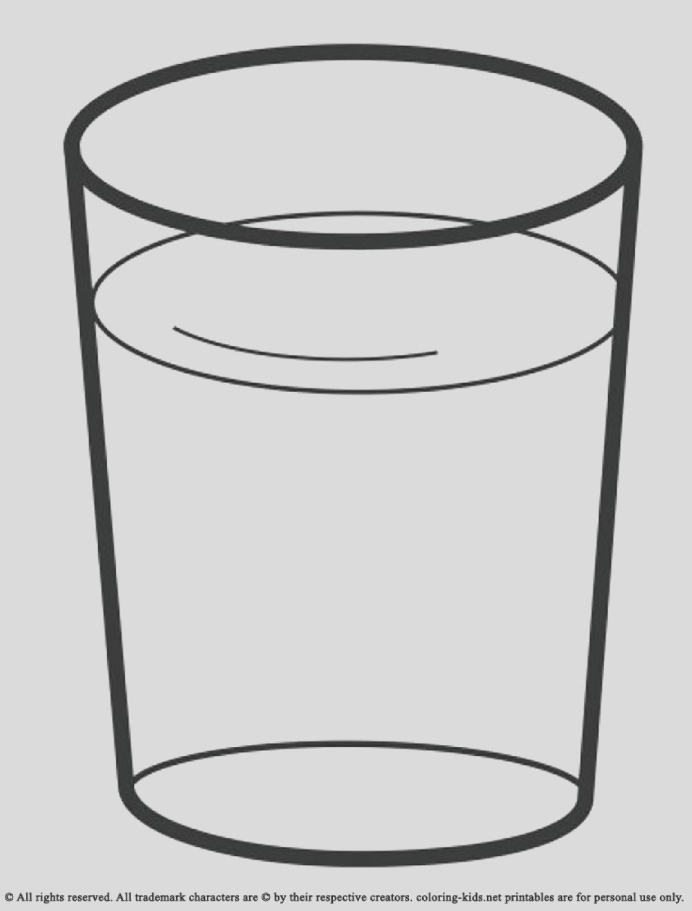 water bottle coloring page