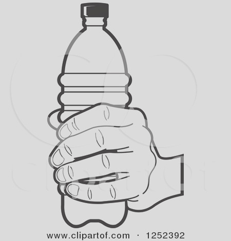 water bottle clipart black and white
