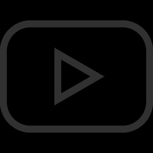 outline button play outlined video buttons symbol social social outline youtube