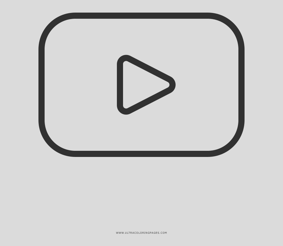wbTRbm youtube coloring page youtube logo coloring page