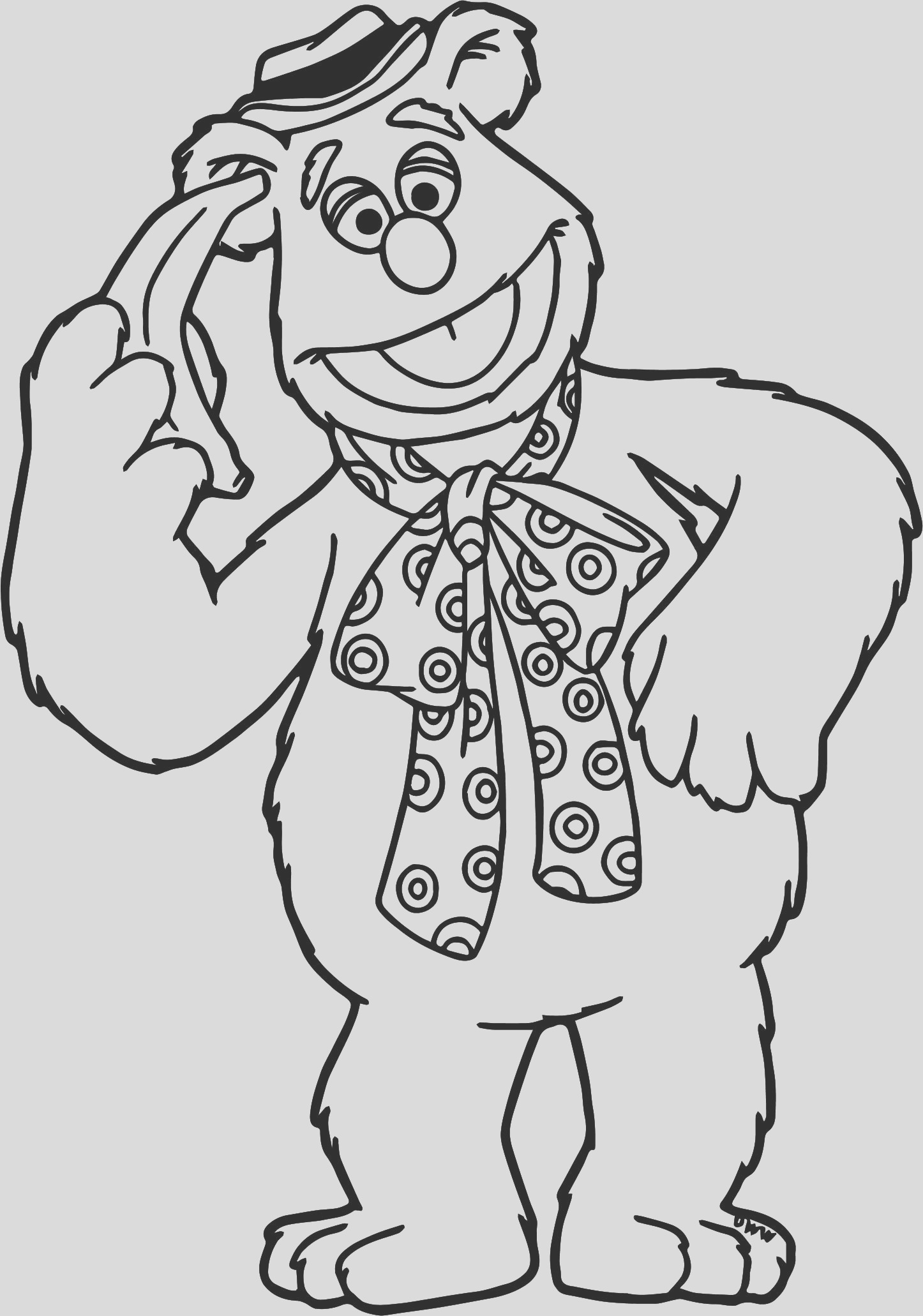 beaker coloring page