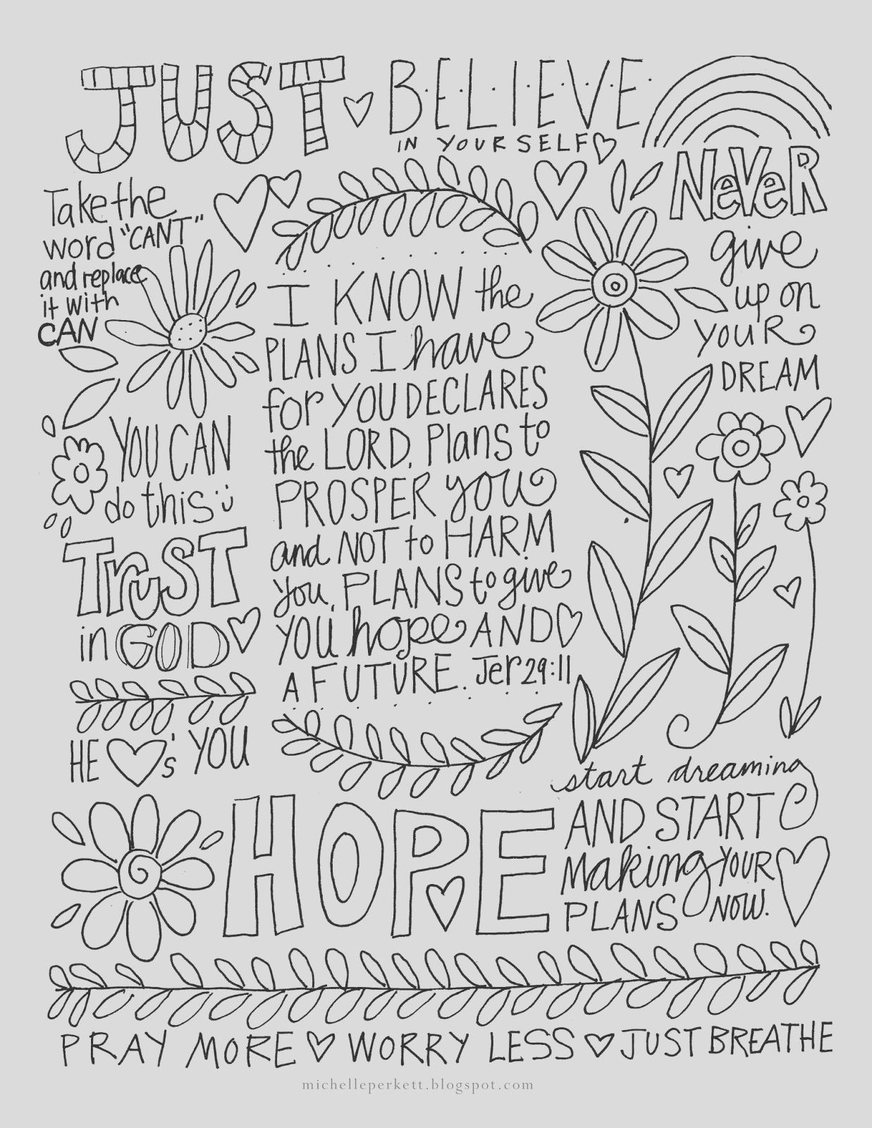 free coloring page and bible art
