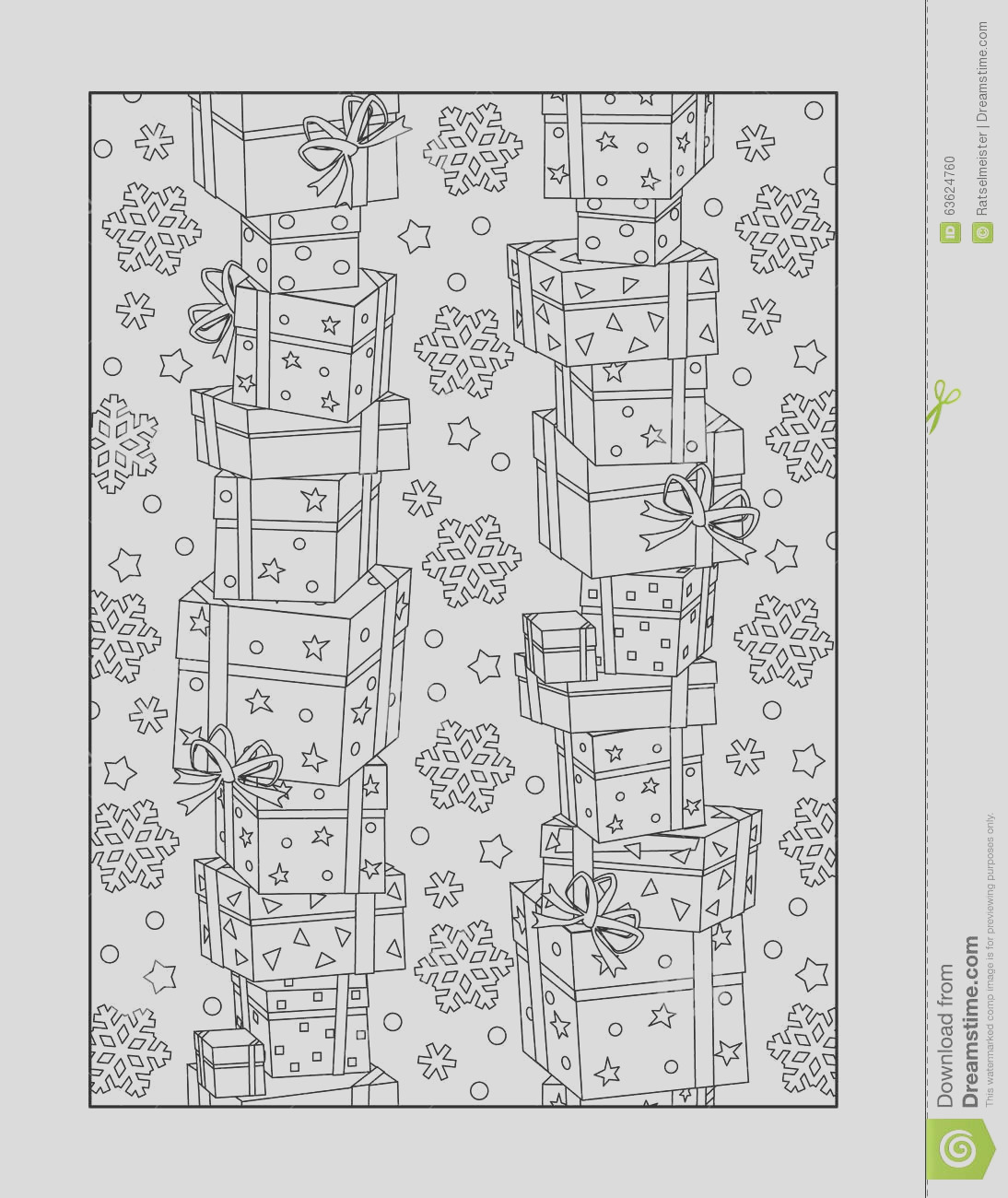 stock illustration coloring page adults black white ornamental background pattern children ok too stacked t boxes snowflakes image
