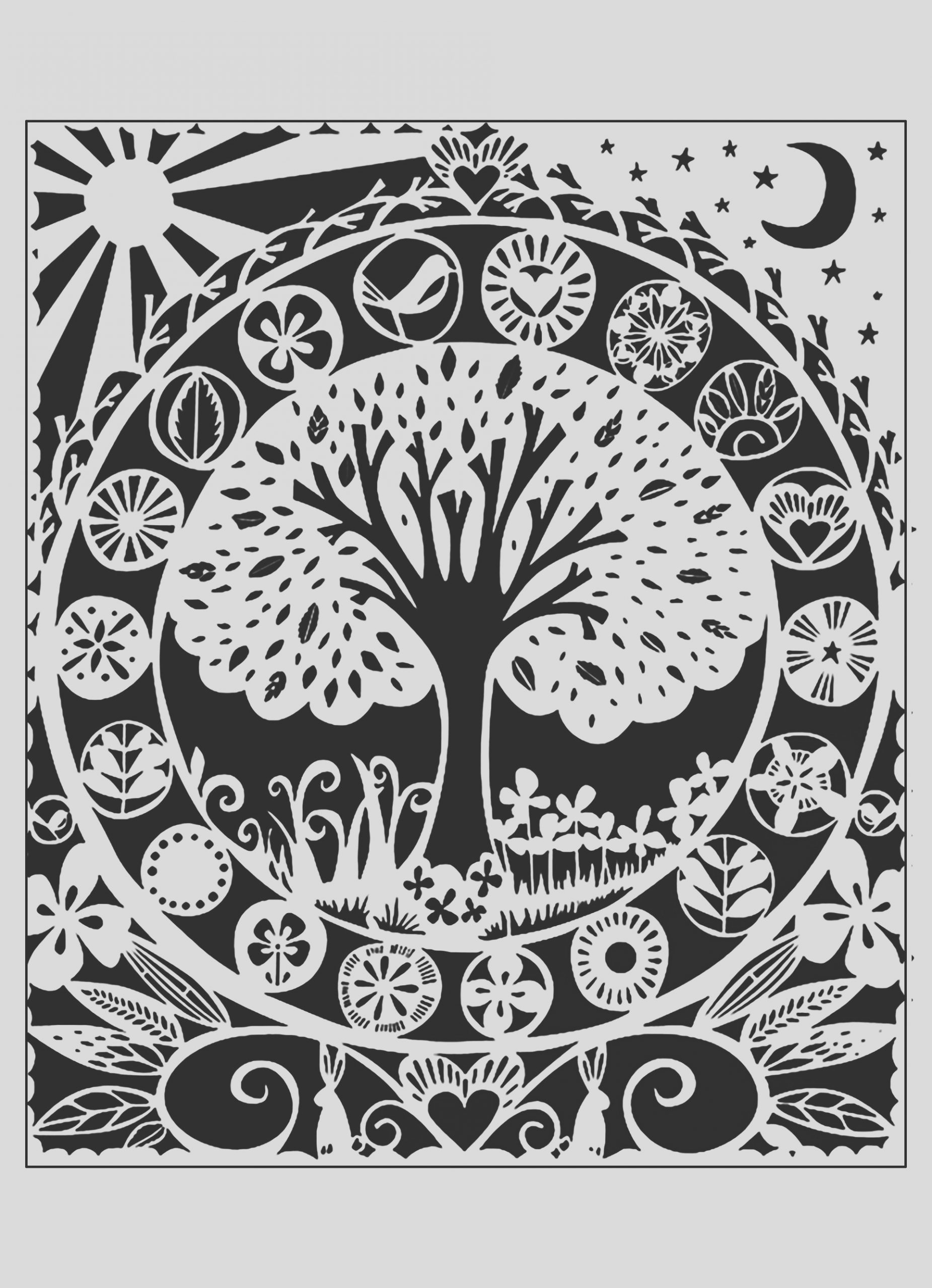 image=fleurs et ve ation coloring adult tree white black 2 1