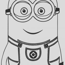 Black and White Coloring Sheet Fresh Minion Smile Coloring Page