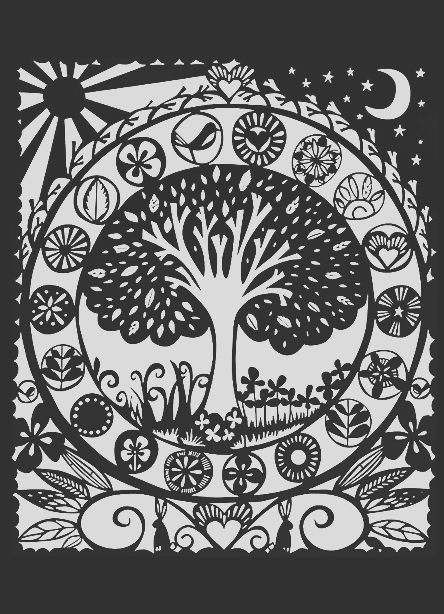 2 image=fleurs et ve ation coloring adult tree black white 1 1