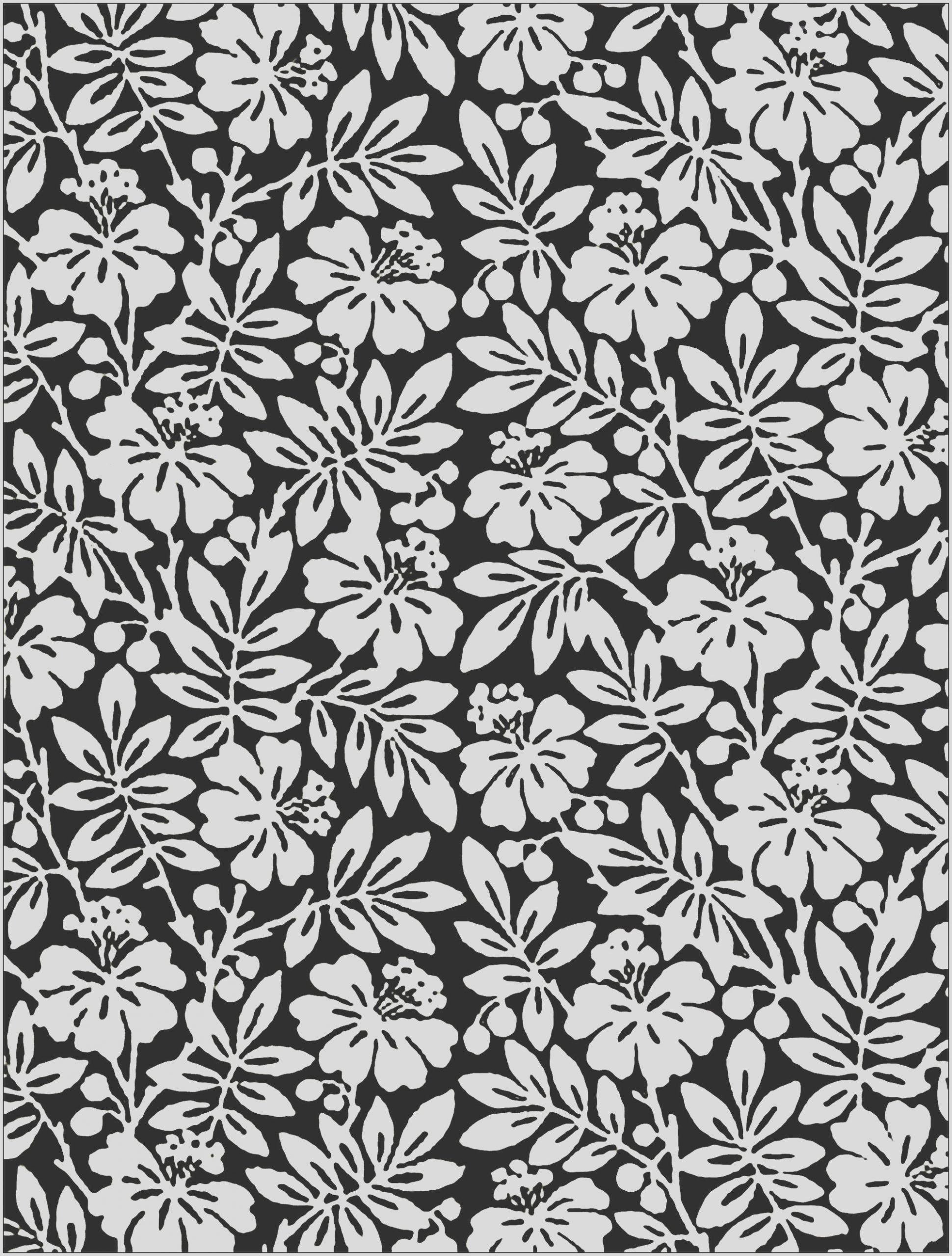 image=fleurs et ve ation coloring Black and white Flowers from English 19th Century Wallpaper 1