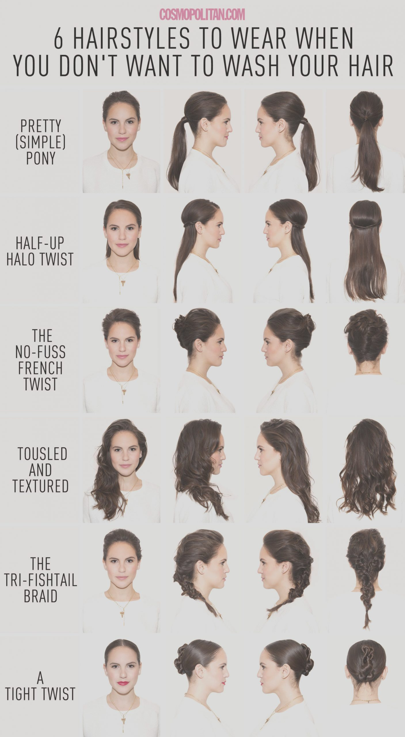 hairstyles when you dont want to wash your hair