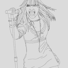 demi lovato coloring pages