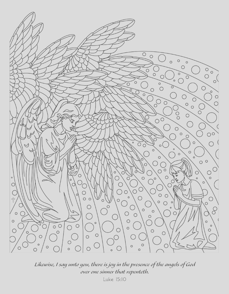 coloring pages to print angels
